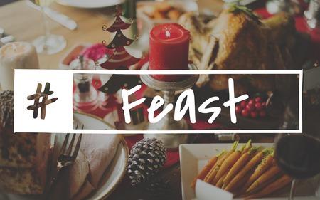 Bon Appetit Celebration Feast Happy Holiday Stock Photo