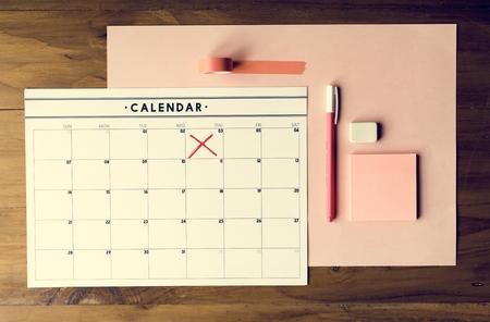 Monthy calendar week reminder organization