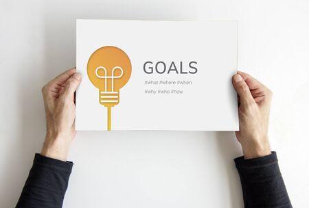 Goal Aim Mission Target Vision Aspiration Stock fotó