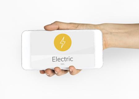 Lighting Thunder Bolt Flash Electric Power Icon Graphic 版權商用圖片