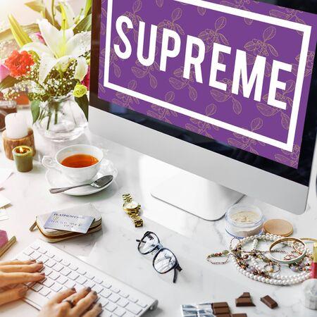 Superior Supreme VIP Membership Top Notched Stock Photo