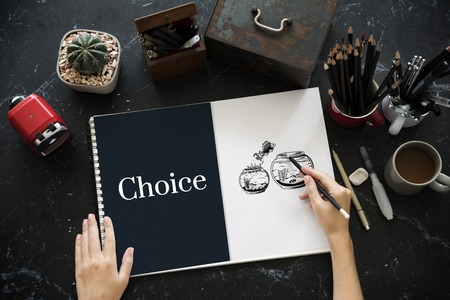 Challange Descision Option Chance Choice Concept Stok Fotoğraf
