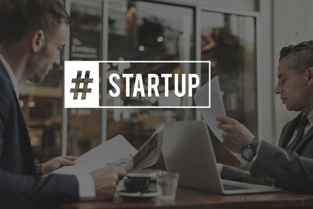 Start Up Business Venture Goals Hashtag Stock Photo - 82840981