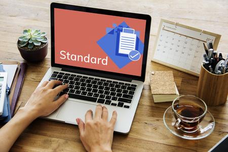 Quality Assurance Control Development Guarantee Banco de Imagens