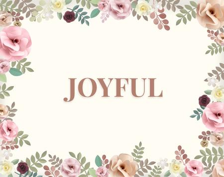 Illustration of happiness joyful flower