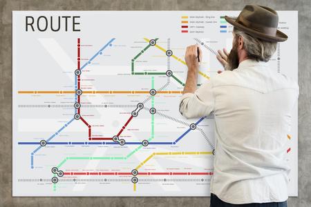 Route Map Destination Navigation Guidance Plan