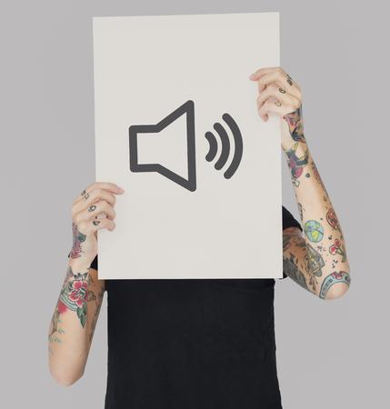 확성기 소리 크기 그래픽 기호 아이콘 스톡 콘텐츠