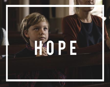 Hope Believe Chruch Faith Inspire Praying Stock Photo