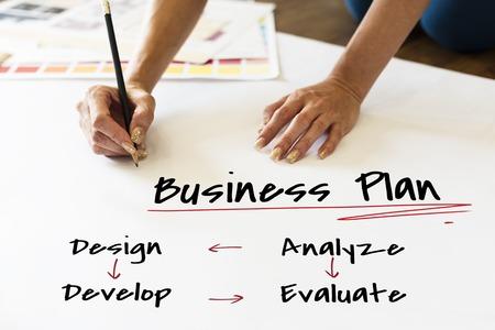 Work Plan Business Process Graphic Illustration