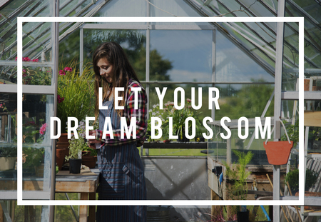 Let Your Dream Blossom Icon Фото со стока
