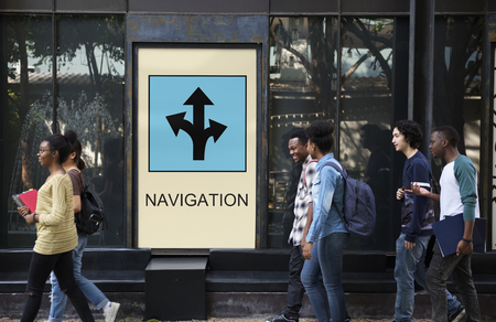 People with navigation concept