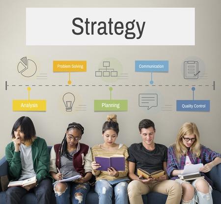 Marketing Plan Achievement Strategy Фото со стока
