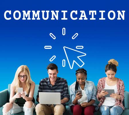 techie: Communication Connection Interaction Conversation Stock Photo