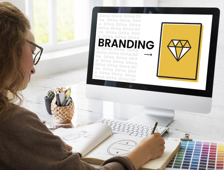 Illustration of product branding marketing plan Stock Photo