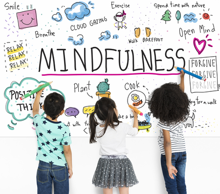 Imagine Learning Mindfulness Sketch School 스톡 콘텐츠