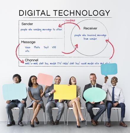 Digital Technology Online Communication Concept Stock Photo