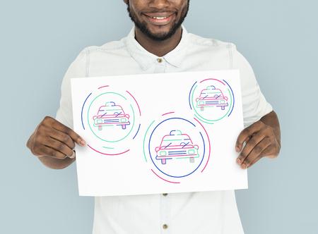 自動車用グラフィック デザイン イラスト