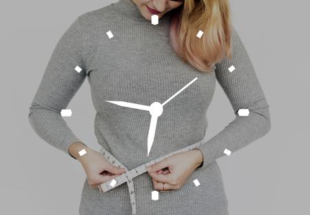 アラーム時計の計測器のグラフィック 写真素材