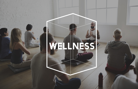 Yoga Class Exercise Strength Peaceful Healthcare Wellness Wellbeing Фото со стока