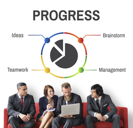 Project Management Progress Workflow Concept Stock Photo