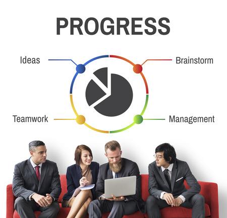 Project Management Progress Workflow Concept Standard-Bild