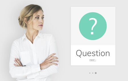 Graphic of question mark asking symbol Banco de Imagens - 82863240