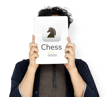 techie: Illustration of chess strategic mind game application