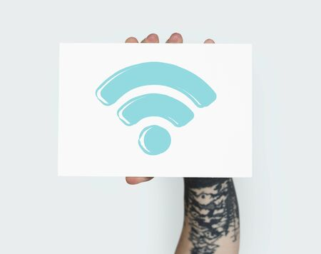 Illustration of internet wifi connection networking technology