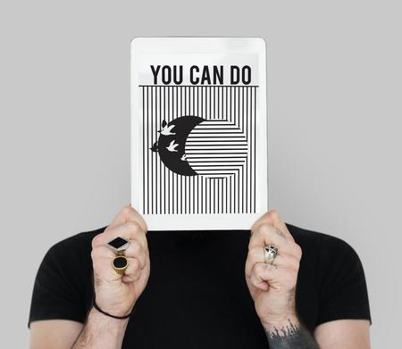 Motivational Quotes Bird Graphic Design