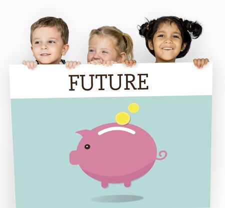 Piggy Bank Money Savings Future Investment Word Graphic