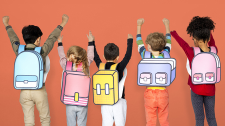 Children School Friends Illustration Concept Banco de Imagens - 82883091
