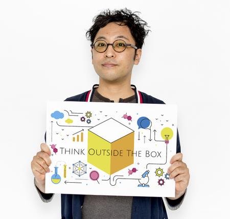 Think Creation Development Innovation Technology Word Graphic Stock Photo