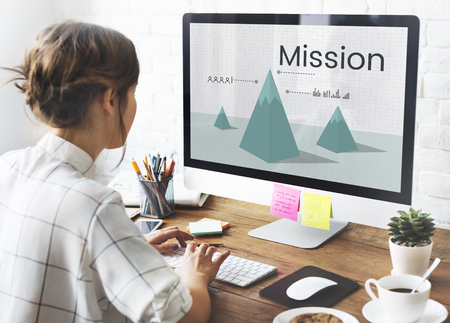 Mission aim aspiration goals ideas Stock Photo