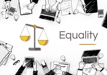 Illustration des droits à l'échelle de la justice et de la loi Banque d'images - 84118915
