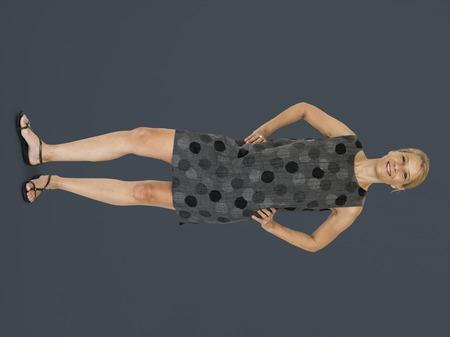 Adult Woman Gesture Stand Studio Portrait
