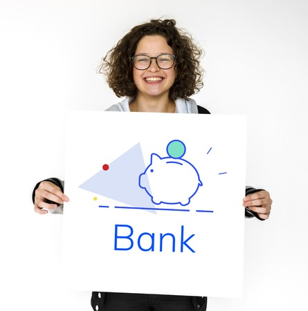 Spaarvarken Geldbesparingen Toekomstige investering Word afbeelding