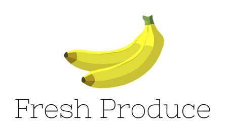 Illustration of fresh organic delicious banana Banco de Imagens