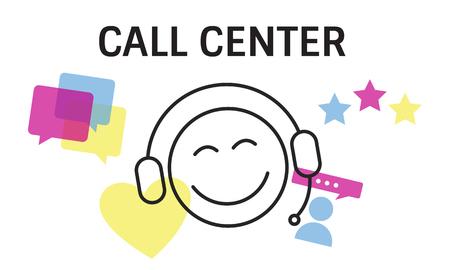 Illustratie van contact met ons online klantenservice