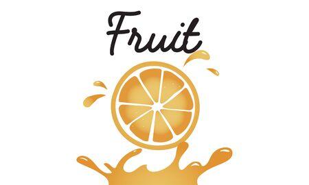 Fresh Nature Orange Organic Fruit Graphic