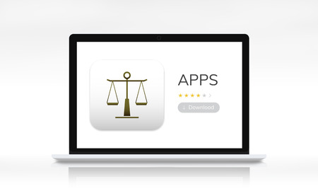 Law apps on a device screen