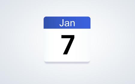 7th Jan calendar date