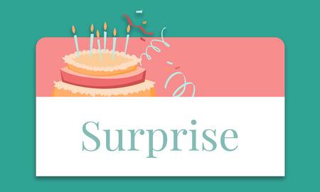 Illustration de l & # 39 ; anniversaire célébration célébration de gâteau avec gâteau Banque d'images - 82941157
