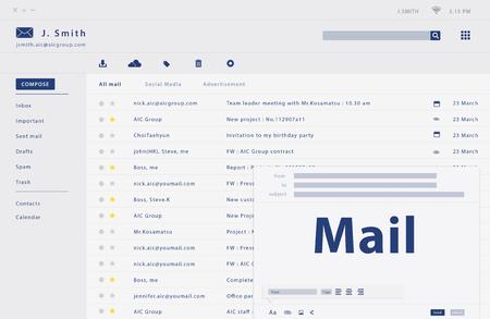 Erstellen einer E-Mail-Weboberfläche