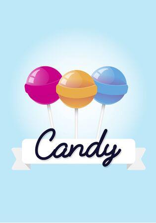 甘いキャンディ ロリポップのイラスト