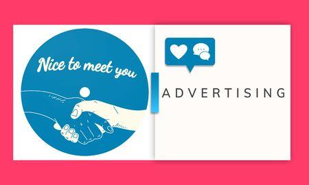 商業マーケティング ビジネスをブランディング広告します。