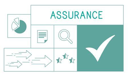 Illustration de l'assurance qualité de la garantie du produit Banque d'images - 82941261