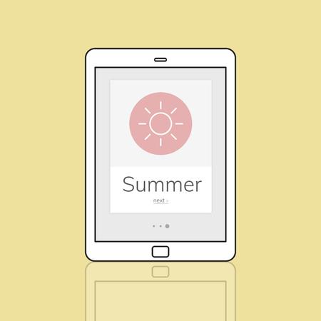 Summer Season Vacation Holiday Word Graphic