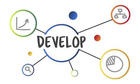 사업 개발 진행중인 진도 개념 스톡 콘텐츠 - 82941336