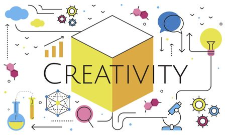 Think Creation Development Innovation Technology Word Graphic Stock Photo