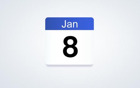 8th Jan calendar date